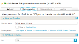 TCP monitor parameters