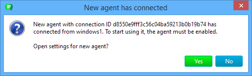 Agent requesting connection