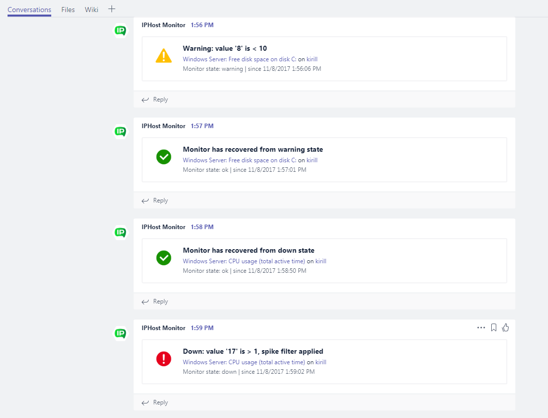 Microsoft Teams notifications - see in action